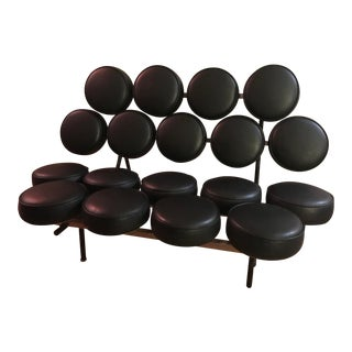 George Nelson Marshmallow Sofa in Black by Herman Miller For Sale