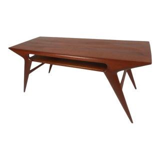 "Scandinavian Modern ""Smile"" Coffee Table by Johannes Andersen For Sale"