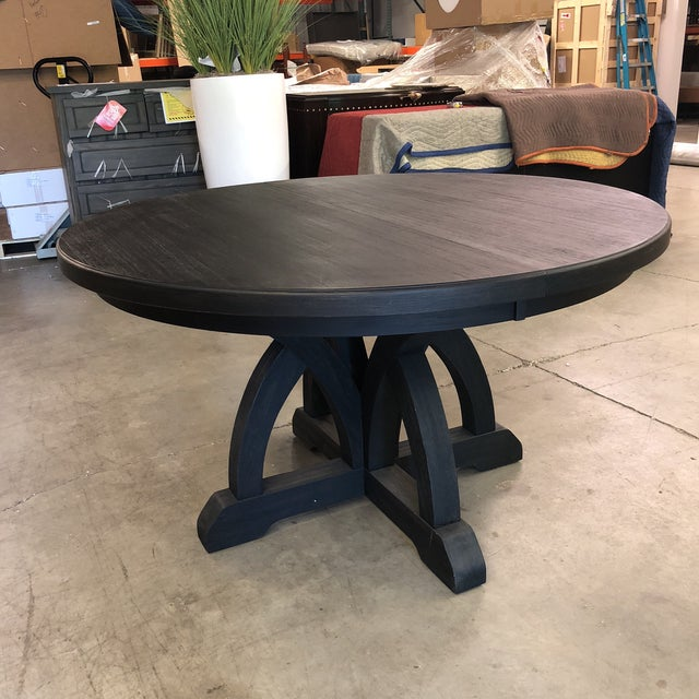 Hooker Corsica Dining Black Wooden Dining Table For Sale - Image 10 of 10