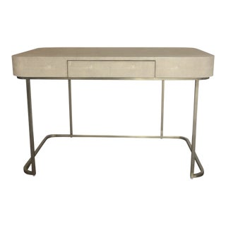 Contemporary Resource Decor Jacques Faux Shagreen Writing Desk For Sale