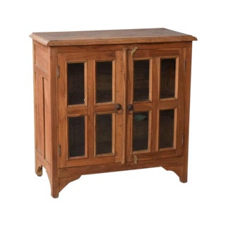 Art Deco Teak Wood 2 Door Cabinet