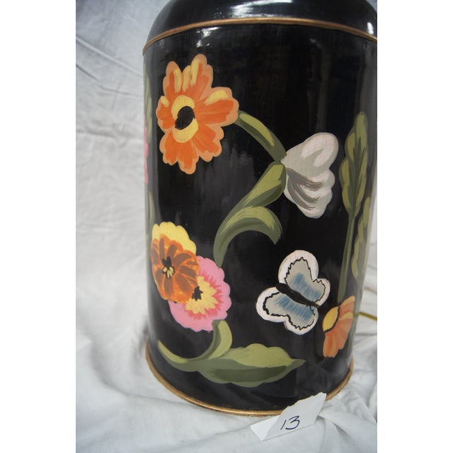 Dana Gibson Floral Tea Caddy Lamp - Image 4 of 4