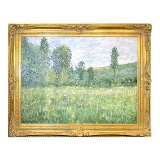 Impressionistic Landscape, Oil on Canvas Landscape, Martin Jewell For Sale