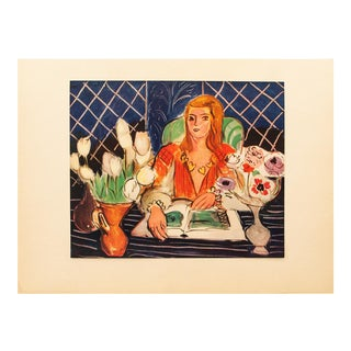 "Henri Matisse Original ""Annelies"" Swiss Period Lithograph, C. 1940s For Sale"