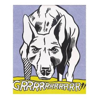"""1960's Pop Art Print, """"Grrrrrrrrrrrr..!"""" by Roy Lichtenstein"""