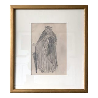 Framed Figurative Drawing by Robert Henri Ashcan School For Sale