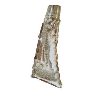 Mid- Century Brutalist Art Pottery Vase . For Sale