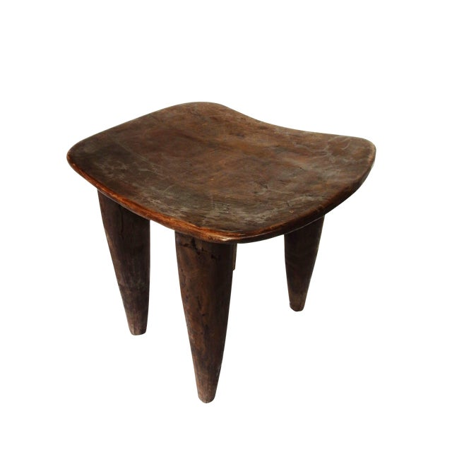 Hand-Carved Senufo Stool - Image 1 of 2