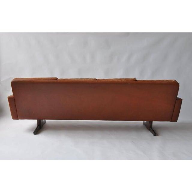 Fredrik Kayser Leather and Rosewood Sofa - Image 4 of 8