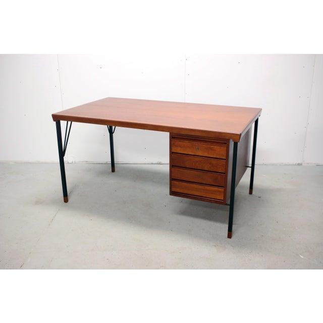 Vintage Danish Modern Arne Vodder for Jon Stuart Teakwood Writing Desk For Sale - Image 12 of 12