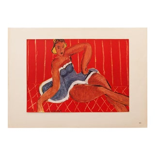 "1946 Henri Matisse, ""Dancer Seated on a Table"" Original Period Parisian Lithograph For Sale"