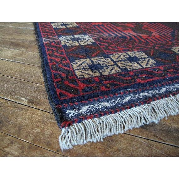 Vintage Navy & Red Persian Rug - 3′7″ × 6′5″ - Image 6 of 6