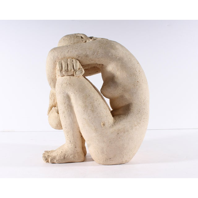 Mid 20th Century Henri Albert Lagriffoul Signed Clay Sculpture of a Nude Woman For Sale - Image 5 of 13