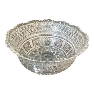 "Large 8.75"" American Brilliant Cut Bowl For Sale"