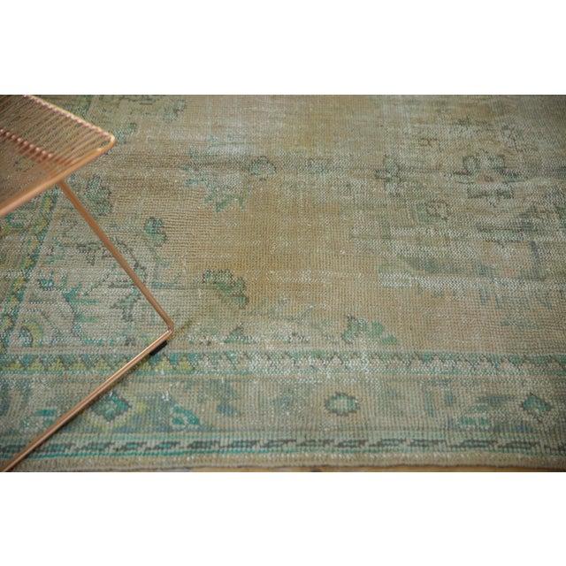 "Boho Chic Vintage Distressed Oushak Carpet - 5'8"" X 8'3"" For Sale - Image 3 of 12"