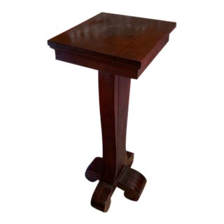 20th Century Neoclassical Wooden Pedestal For Sale
