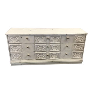 Vintage Broyhill Dresser with Carved Drawers For Sale