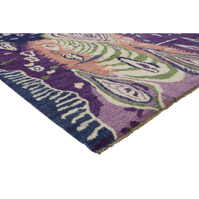 Abstract Expressionism New Contemporary Moroccan Style Area Rug With Postmodern Style and Abstract Memphis Design For Sale - Image 3 of 7