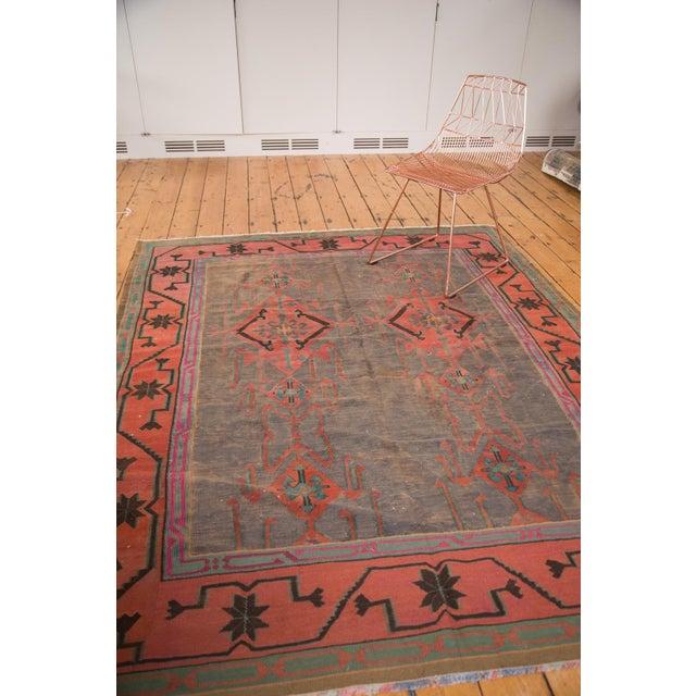 "Vintage Turkish Kilim Carpet - 6'1"" x 7'9"" - Image 4 of 5"