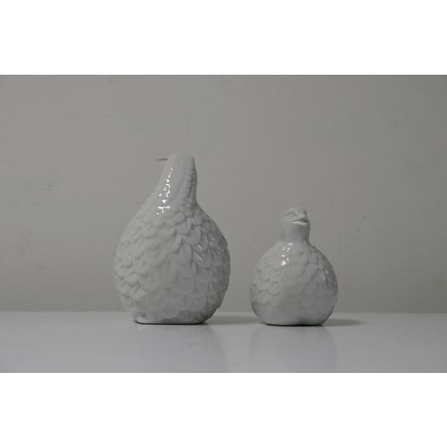 White Porcelain Partridges - a Pair For Sale - Image 4 of 8