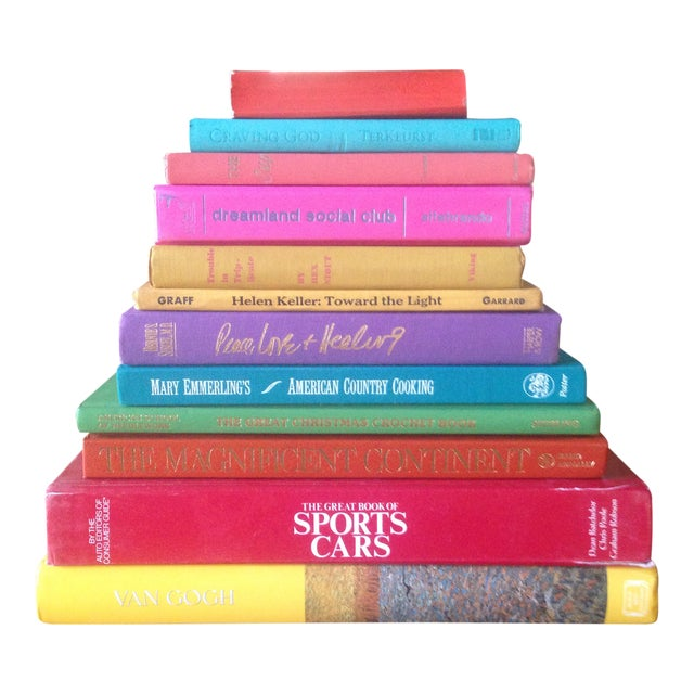 Brightly Colored Decorative Books - Set of 12 - Image 1 of 11