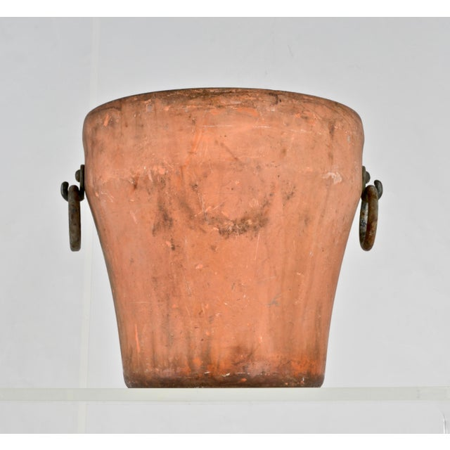 Cast Iron Garden Planter With Terra Cotta Finish For Sale In New York - Image 6 of 11