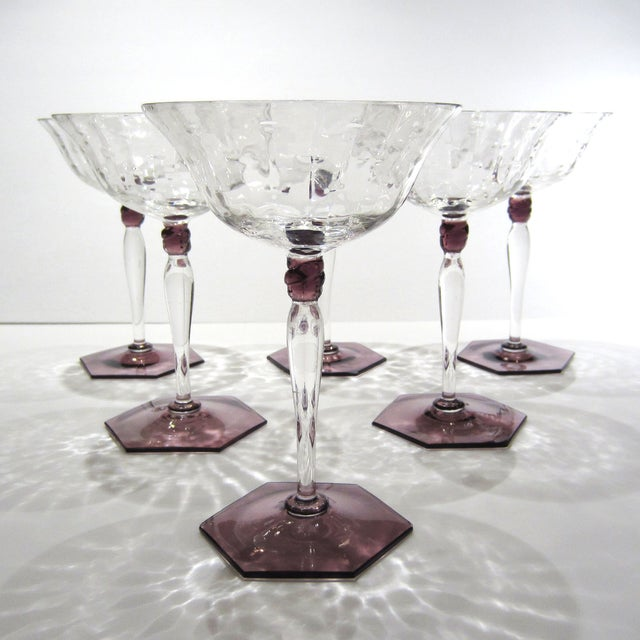 Amethyst & Clear Textured Cocktail Glasses - S/6 - Image 10 of 11