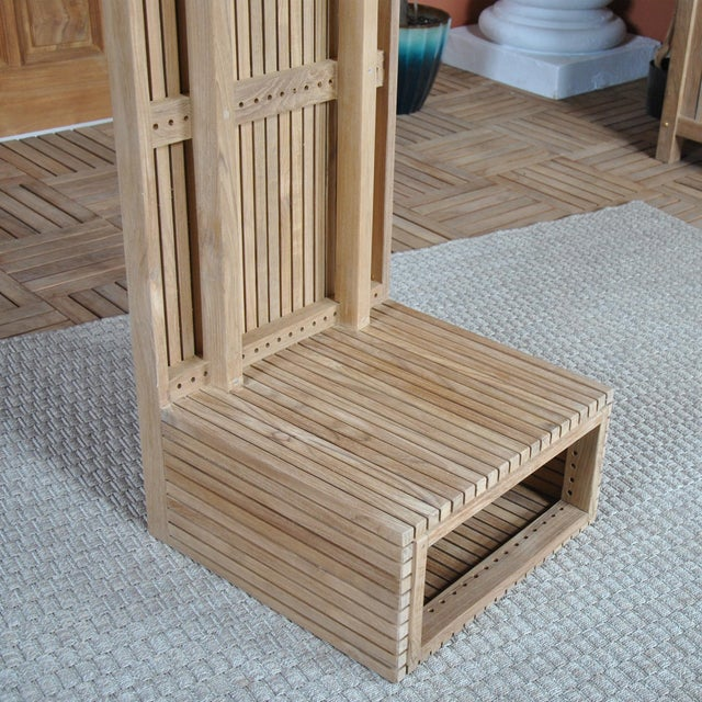 "Wood Niagara Teak Liner Bench Stool - 59"" For Sale - Image 7 of 8"