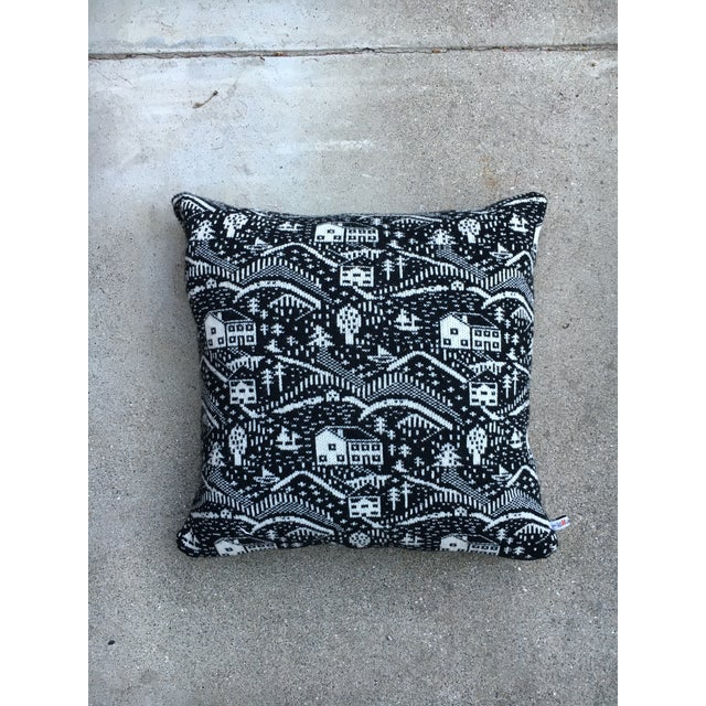 Black & White Cabin Scene Pillow by Donna Wilson - Image 2 of 4