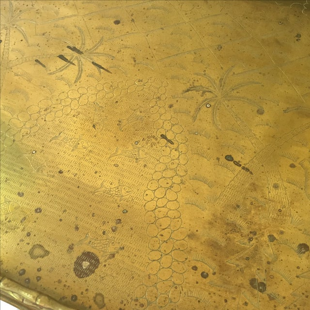 Vintage Brass Bamboo Tray Table - Image 5 of 6