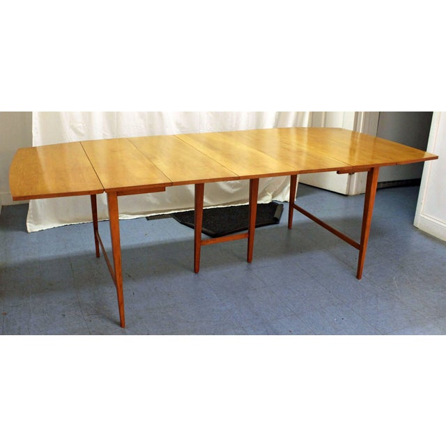 Brown Mid-Century Modern Paul McCobb Planner Group Drop Leaf Dining Table For Sale - Image 8 of 12
