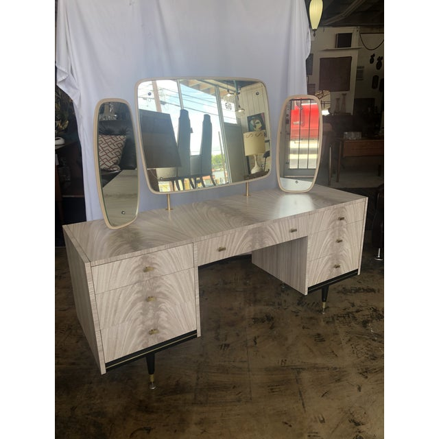 Mid Century Berry Furniture Vanity For Sale - Image 13 of 13