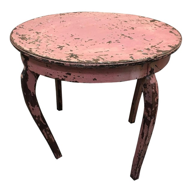 Vintage Pink End Table - Image 1 of 3