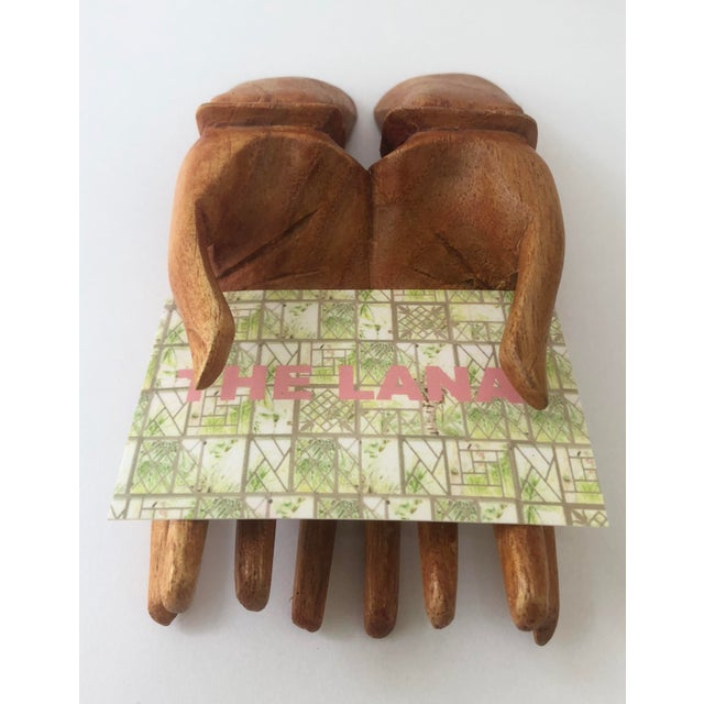 Boho Chic Wooden Hand Card Holder For Sale - Image 3 of 8