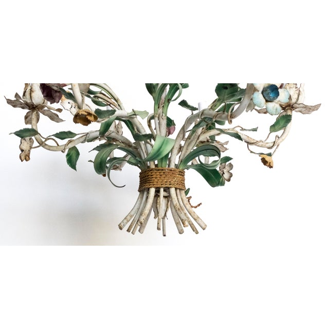 Such a cool vintage tole chandelier! It is shabby with just the right amount of rust to make it interesting. Wired &...