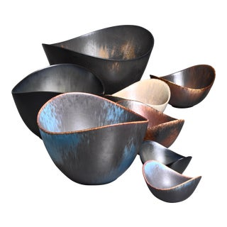 Group of 8 Gunnar Nylund Ceramic Bowls for Rörstrand, Sweden For Sale