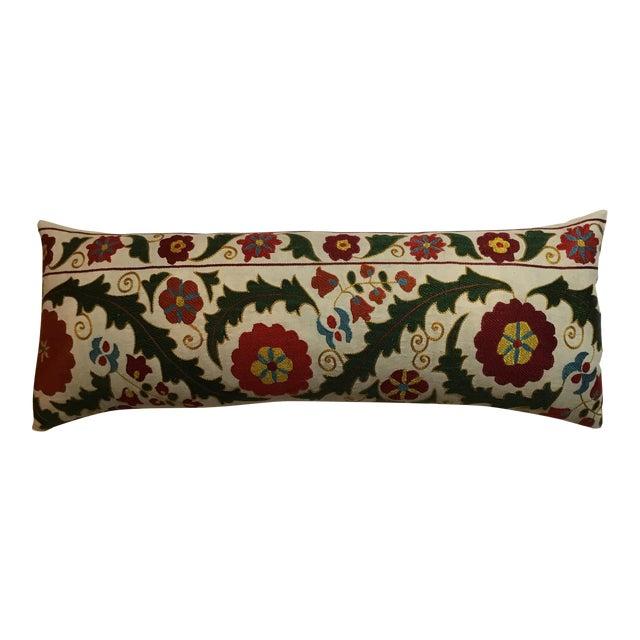 Hand Embroidery Vintage Suzani Pillow - Image 1 of 9