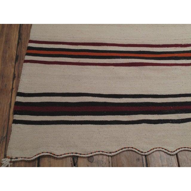 Large Banded Kilim For Sale - Image 4 of 5