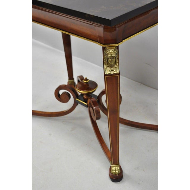20th Century French Empire John Widdicomb Figural Bronze Mounted Occasional Lamp Table For Sale - Image 10 of 12
