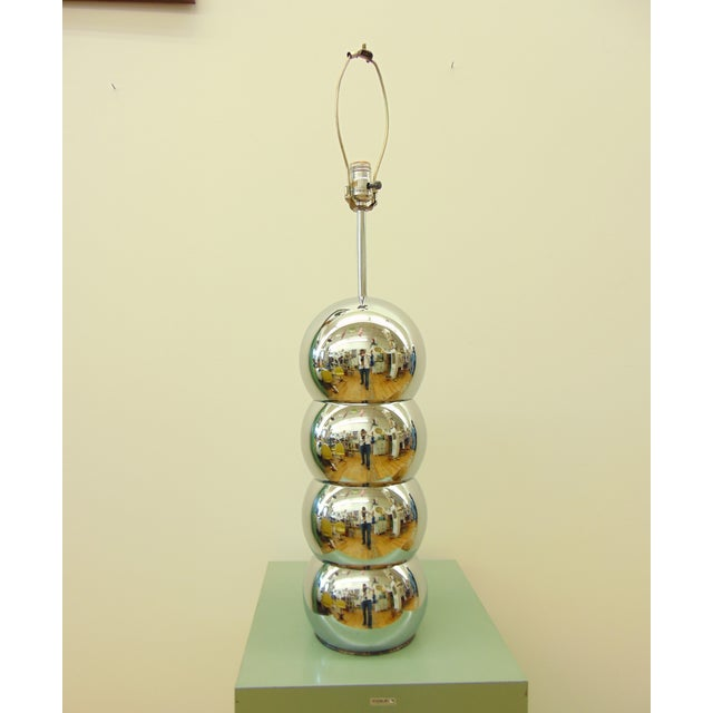 George Kovacs Stacked Chrome Ball Lamp - Image 3 of 7