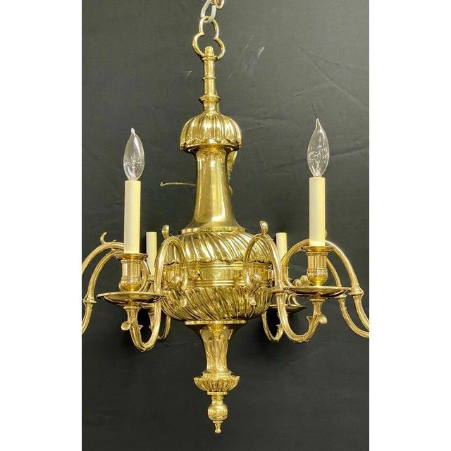 Bronze Georgian Style Chandelier Having Eight Lights For Sale - Image 4 of 13