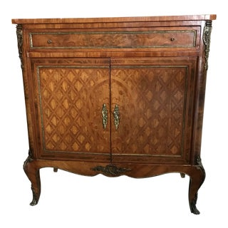 Mid-Late 19th Century French Mahogany, Ebony and Satinwood Commode For Sale
