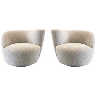 Pair Vladimir Kagan Corkscrew Swivel Chairs