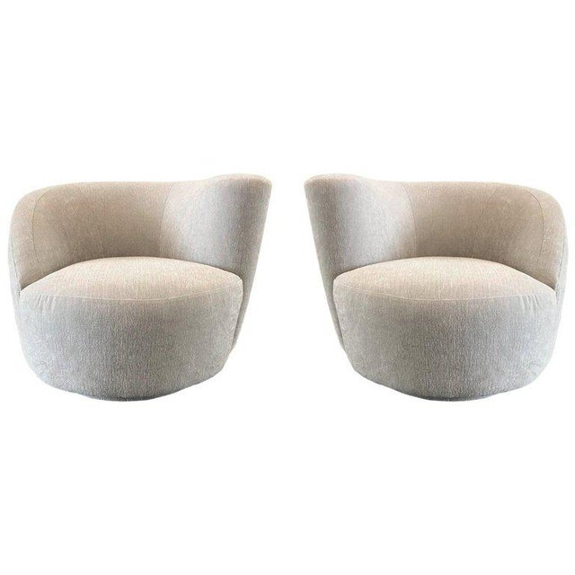 Pair Vladimir Kagan Corkscrew Swivel Chairs For Sale In New York - Image 6 of 6