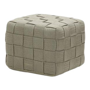 Cane-Line Cube Footstool, Taupe For Sale