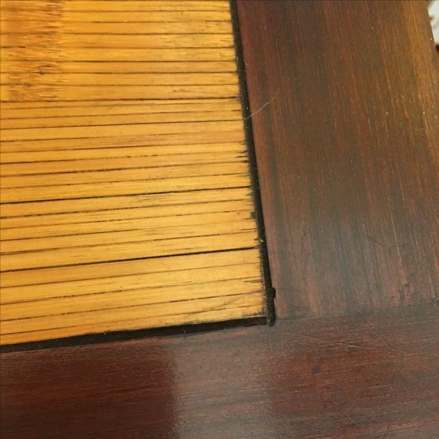 Bamboo Inlay Wood & Glass Bureau - Image 3 of 10