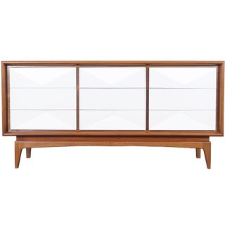 Mid Century Diamond Front Dresser For Sale