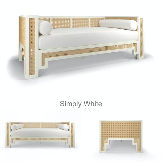 Not Yet Made - Made To Order Alexandra Daybed - Citron, Optic White Linen For Sale - Image 5 of 6