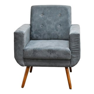 Modern Athena Suede Grey Armchair For Sale