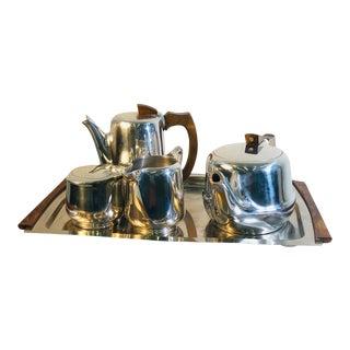 1930s Modernist Art Deco Coffee and Tea Set - Set of 5 For Sale